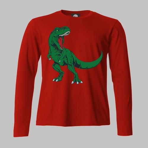 Tyrannosaurus rex op je T-shirt of sweater