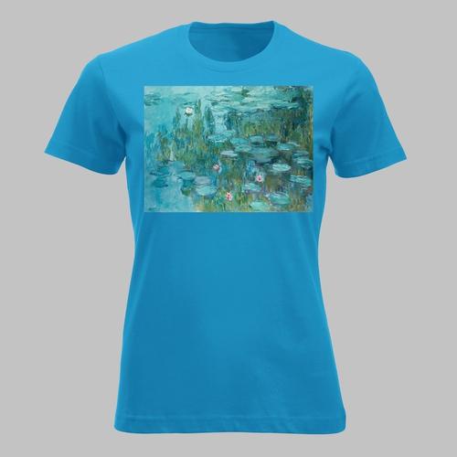 Waterlelies in blauw van Claude Monet