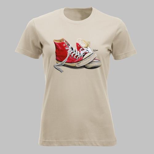 Hoge sneakers in rood
