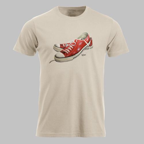 Lage sneakers in rood