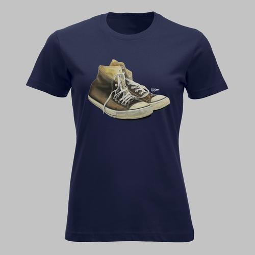 Hoge sneakers in bruin 2