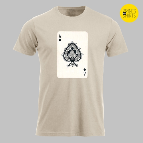 Speelkaart schoppen aas op je shirt