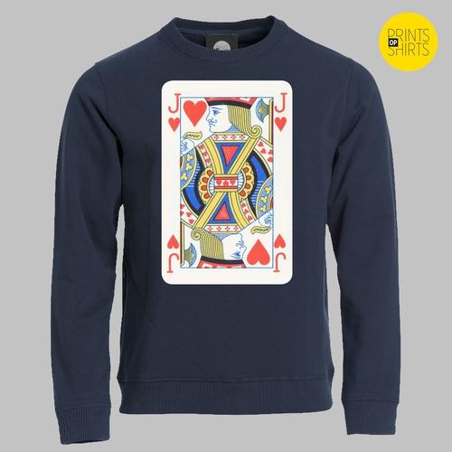 Speelkaart harten boer, jack op je shirt