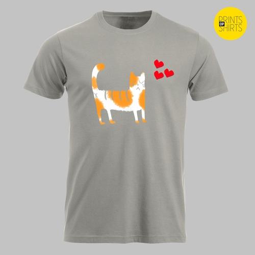 Kat met hartjes Oranje