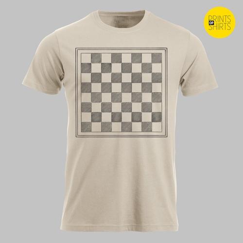 Schaakbord zonder schaakstukken