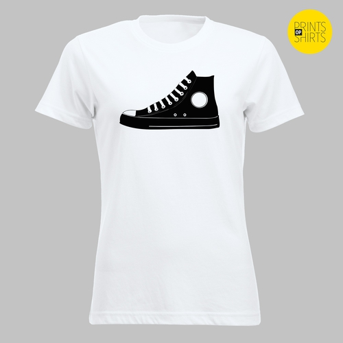 Converse All Star sneakers op je shirt