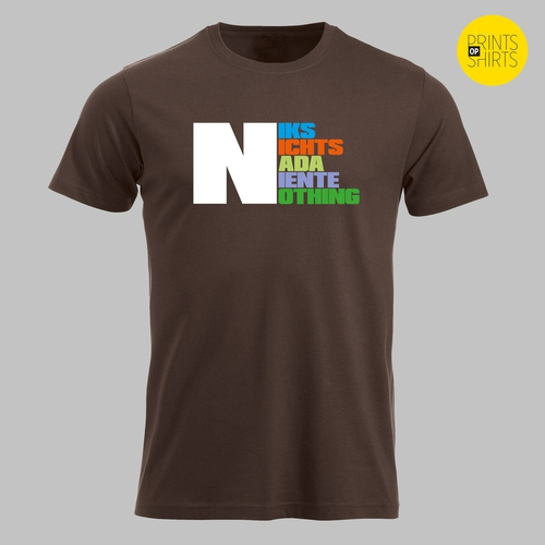 Een 'niks' shirt
