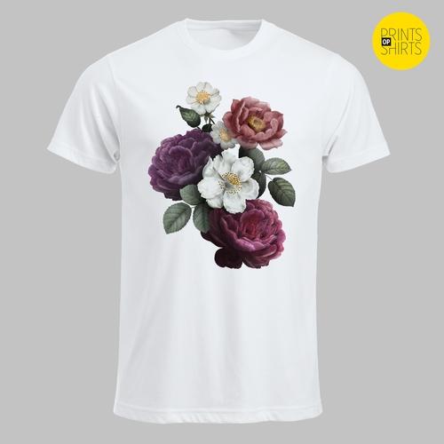 Weelderige bloemen in allerlei kleuren T-shirt