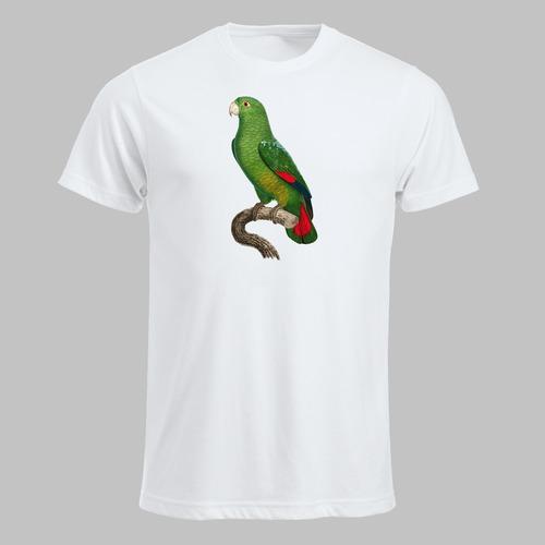 Kleine papegaai geprint op t-shirt