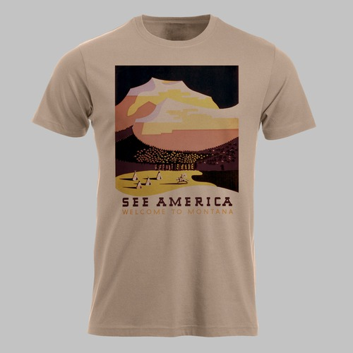 Vintage poster Amerika, Montana