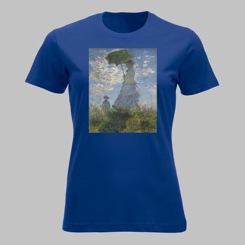 Vrouw met parasol van Claude Monet