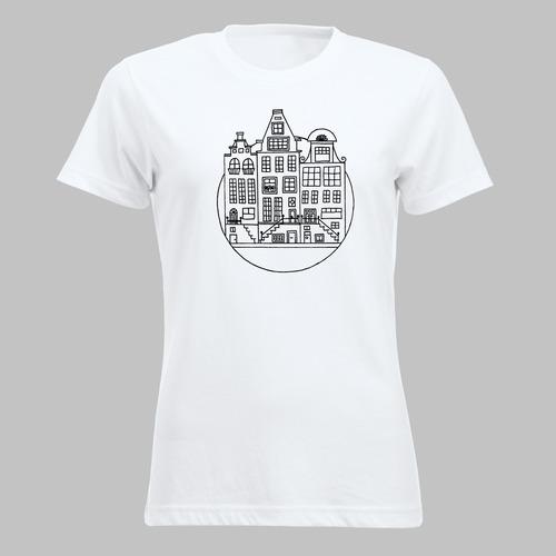 Amsterdamse grachten op je shirt of tas - 1