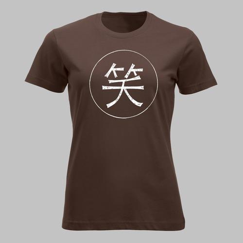 Chinese teken voor glimlach, lachen in wit
