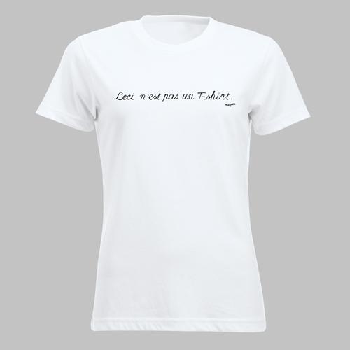 Ceci n'est pas un T-shirt - naar René Magritte - in zwart