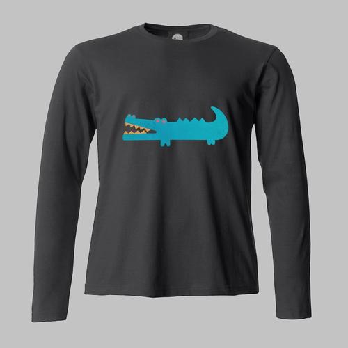 Blauwe krokodil