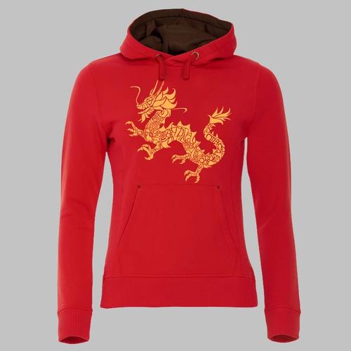 Chinese draak - in oranjegeel