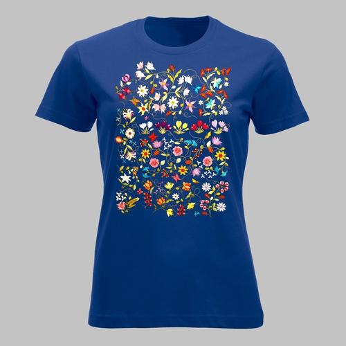 Veel bloemen en vlinders