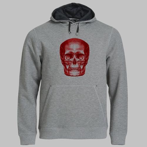 Human skull - in rood