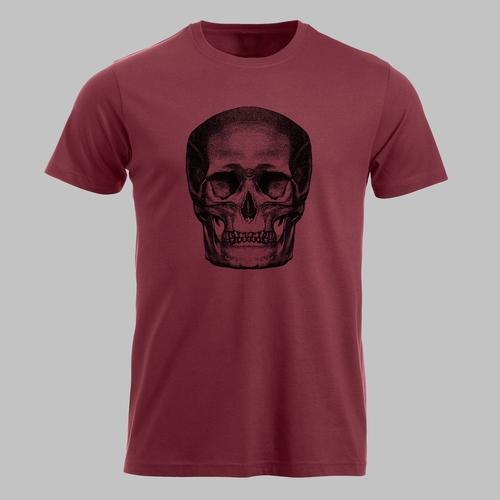 Human skull - in zwart