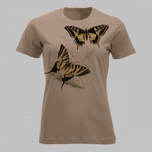 Vlinders - geel met zg. zwaluwstaart