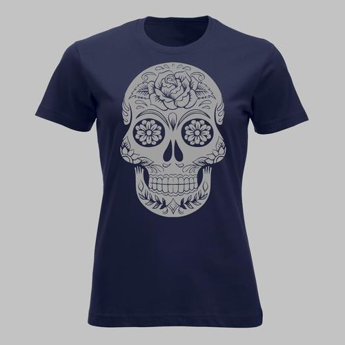Decorated human skull 2