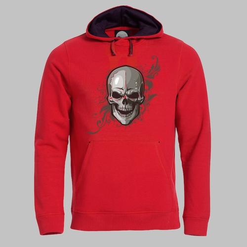 Skull grijs met rood