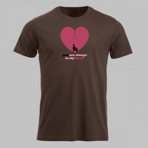 Valentijn t-shirt always in my heart