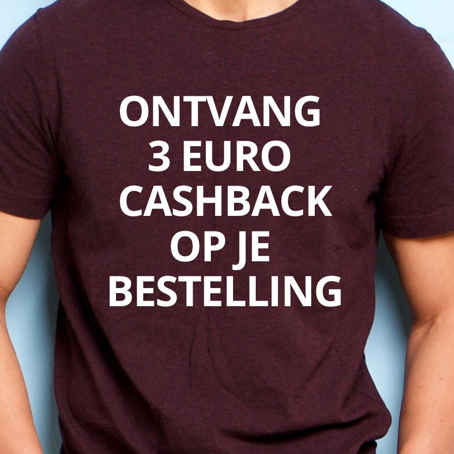 3 euro teruggestort op je bankrekening!